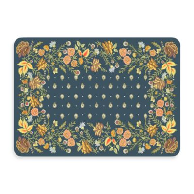 Bungalow Flooring New Wave 22-Inch x 31-Inch Palazzo Chambray Door Mat