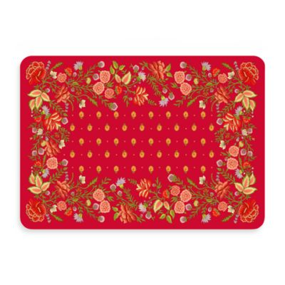 Bungalow Flooring New Wave 22-Inch x 31-Inch Favenay Red Door Mat