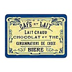 Bungalow Flooring New Wave French Chocolate Blue Doormat