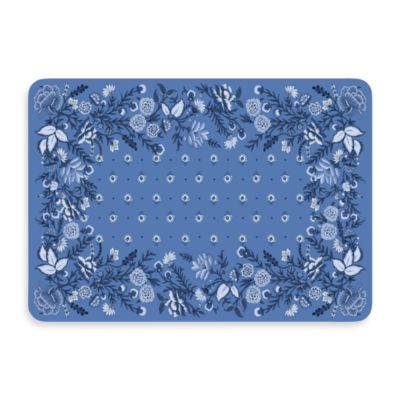 Bungalow Flooring New Wave 22-Inch x 31-Inch Favenay Azure Door Mat