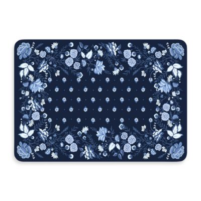 Bungalow Flooring New Wave 22-Inch x 31-Inch Favenay Cobalt Door Mat