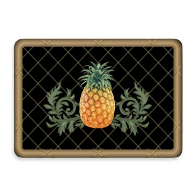 Bungalow Flooring New Wave Pineapple Lattice Black Door Mat