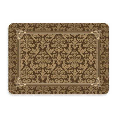 Bungalow Flooring New Wave 22-Inch x 31-Inch Brown Tapestry Border Door Mat