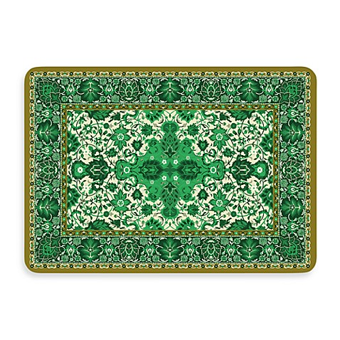 Bungalow Flooring New Wave 22-Inch x 31-Inch Tabriz Green Door Mat