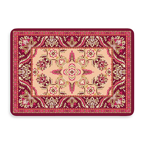 Bungalow Flooring New Wave 22-Inch x 31-Inch Red Siam Kitchen Door Mat
