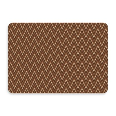 Bungalow Flooring New Wave 22-Inch x 31-Inch Chevron Chocolate Door Mat