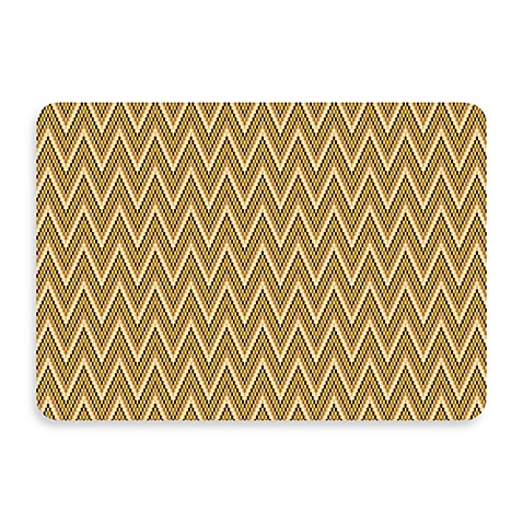Bungalow Flooring New Wave 22-Inch x 31-Inch Chevron Cashew Door Mat