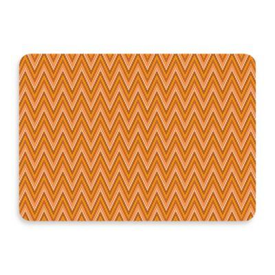 Bungalow Flooring New Wave 22-Inch x 31-Inch Chevron Tangerine Door Mat