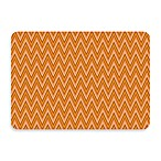 Bungalow Flooring New Wave Chevron Tangerine Doormat