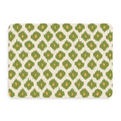 Bungalow Flooring New Wave 22-Inch x 31-Inch Ikat Green Door Mat