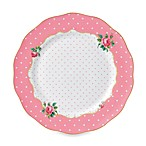 Royal Albert Vintage 10.5-Inch Dinner Plate in Cheeky Pink