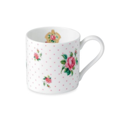 Royal Albert Vintage 4.75-Inch Roses Mug in Cheeky Pink