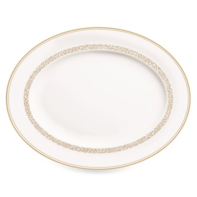 Vera Wang Wedgwood® Filigree Gold 13.75-Inch Oval Platter