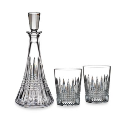 Waterford® Lismore Diamond Decanter & Double Old-Fashioned Glasses (Set of 3)