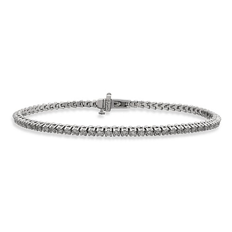 14K White Gold 72-Round 1.5 cttw Diamond Tennis Bracelet