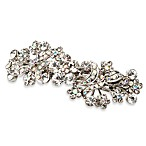 Clear and AB Crystal Vintage Bridal Floral Barrette