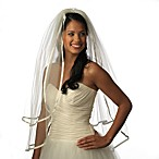 Delicate Edge 2-Layer Shoulder Diamond White Veil