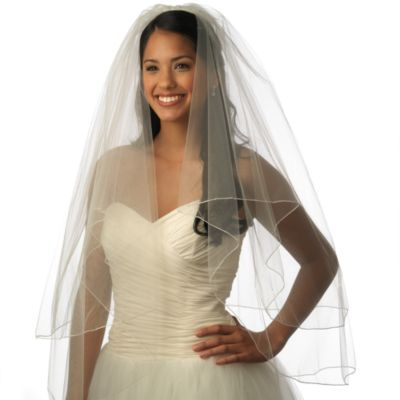 Diamond White Bridal Veil