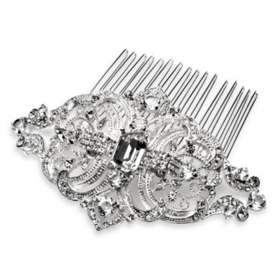 Mariela Rhinestone Swirl and Leaf Bridal Comb