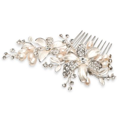 Rebecca Pearls and Rhinestones Side Comb