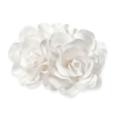 Silk Two Roses Flower Comb