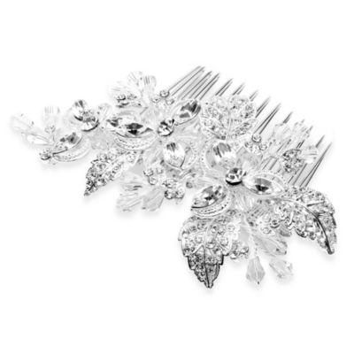 Pure Bliss Metal Bridal Leaf Comb