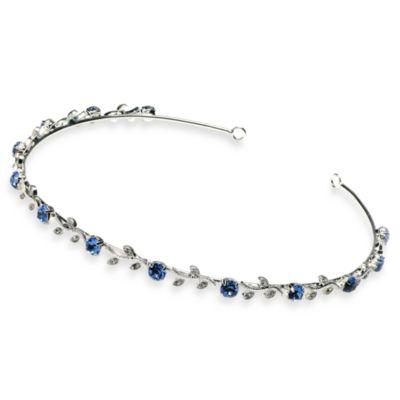 Crystal Blue Vine Wedding Headband