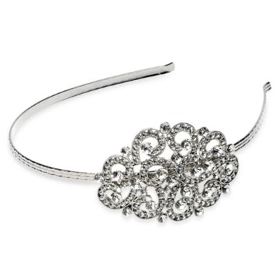 Bliss Rhodium-Plated Swarovski Crystal Side Headband