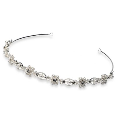 Alyssa Pearl Tiara Wedding Headband