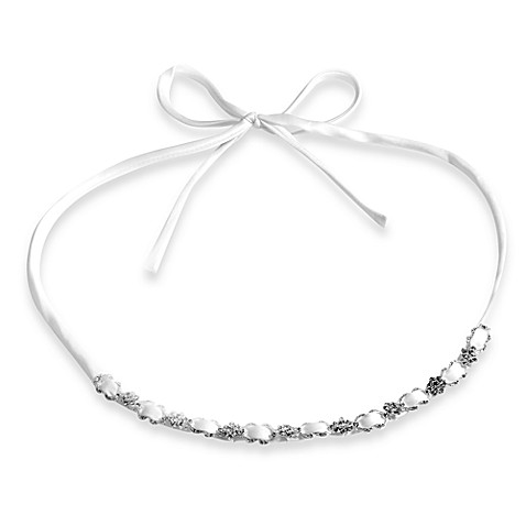 Satin Delicate White Ribbon Headband