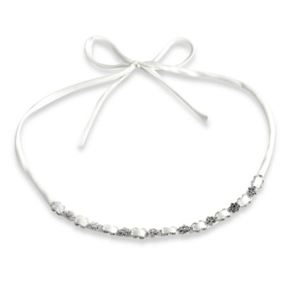 Delicate Ivory Satin Ribbon Headband