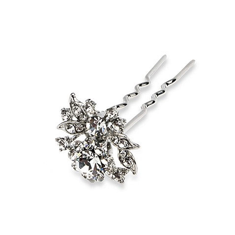Rhodium Floral Hair Pin