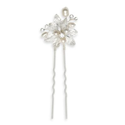 Pearl and Crystal Cluster Hair Pin