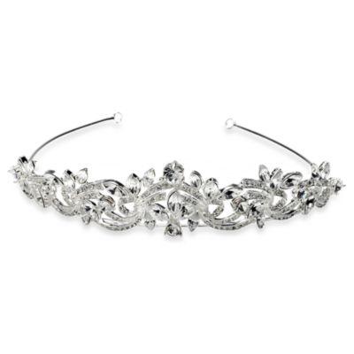 Silver-Plated Rhinestone Crown