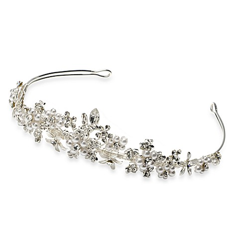 Austrian Crystal and Faux Pearl Tiara