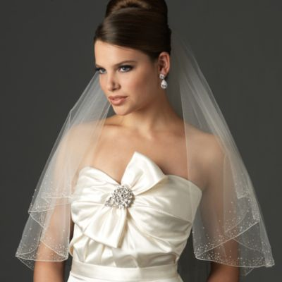 Swarovski Crystal 2-Layer Oval Veil