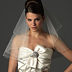 Two-Layer Swarovski Crystal Edge Shoulder Veil