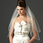 Satin Corded Elbow White 2-Layer Veil
