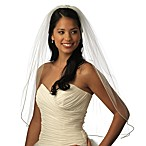 Satin Corded 1-Layer Elbow Veil