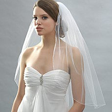 Pencil Edge Elbow-Length Bridal Veil