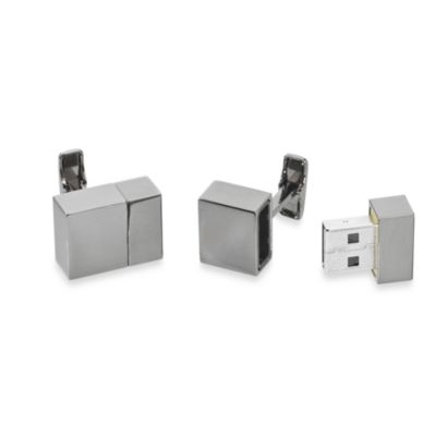 Gunmetal 2GB USB Flash Drive Cufflinks