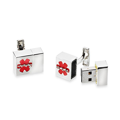 Silvertone Medical 8GB USB Cufflinks