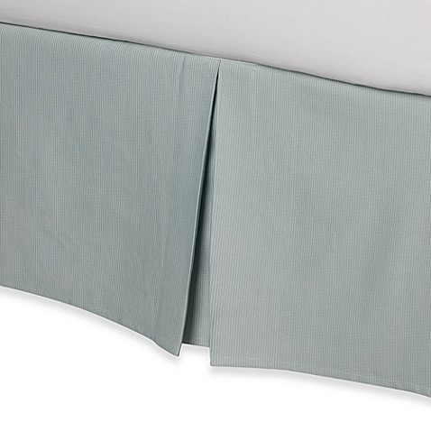 Real Simple® Linear Full Bed Skirt in Aqua