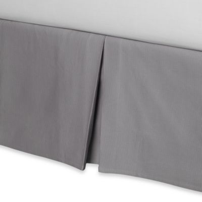 Real Simple® Linear Bed Skirt in Grey