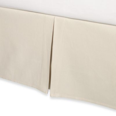 Real Simple® Linear California King Bed Skirt in Ivory