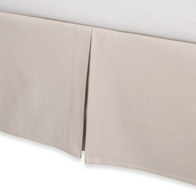 Real Simple® Linear King Bed Skirt in Stone