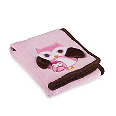 S.L. Home Fashions Baby Blanket in Pink Owl Mama & Baby