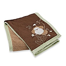 S.L. Home Fashions Baby Blanket in Sage Monkey