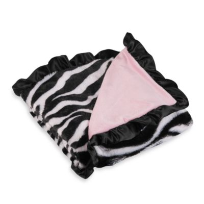 S.L. Home Fashions Baby Blanket in Pink Zebra