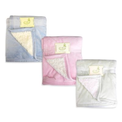 Micro Mink/Sherpa Reverse Crib Throw Blanket